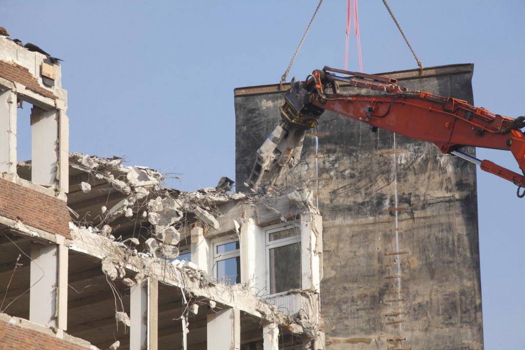 demolish and clearing the building